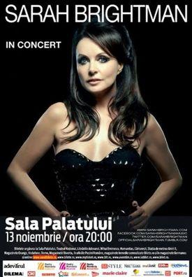 Concert Sarah Brightman la Sala Palatului