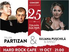 Concert Trupa PARTIZAN și Iuliana Puschilă & Band