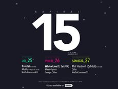 Expirat 15 - Palotai (HU) / White Lies - DJ set (UK) / Phil Hartnoll (Orbital) - DJ set (UK) / 25-26-27.05