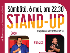 deKomedie – Live Stand-Up cu Bobo, Vancica si Sorin, deschide Mihai Rait