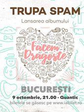 """SPAM - Lansare """"Facem Dragoste"""" în București"""