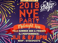 2018 NYE Party Midnight Kiss