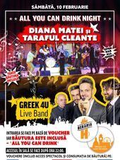 All You Can Drink Night #2: Diana Matei și Taraful Cleante, Greek 4U Live Band