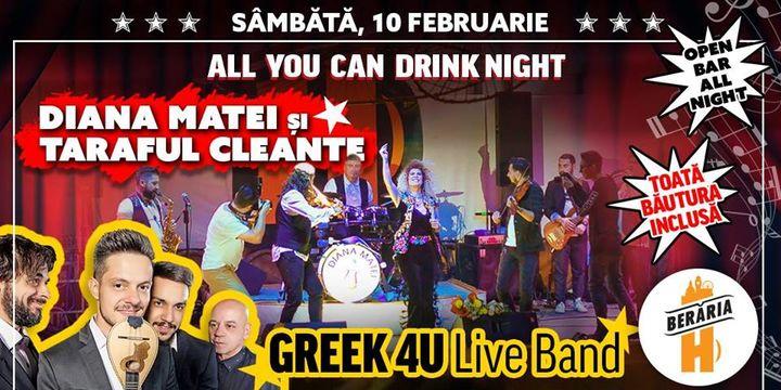 All You Can Drink Night #2: Diana Matei și Taraful Cleante, Greek 4U Live Band