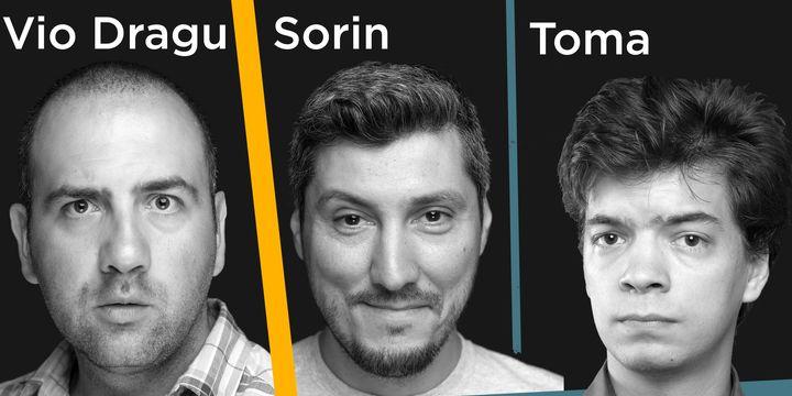 Stand Up Comedy cu<strong> Vio, Sorin si Toma</strong> la Club Flex Arad