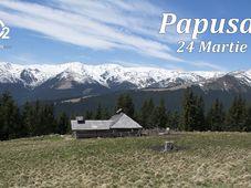 Spre varful Papusa, in martie