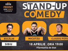 Sibiu:Stand-up comedy cu Micutzu, Bucălae & Claudiu Popa
