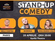 Paris: Stand-up comedy cu Bordea, Ana-Maria Calița & Nelu Cortea