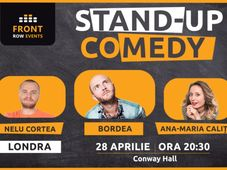 Londra: Stand-up comedy cu Bordea, Ana-Maria Calița & Nelu Cortea