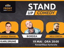 Karlsruhe: Stand-up comedy cu Bordea, Cortea & George Tănase