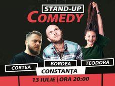Constanța: Stand-up comedy cu Bordea, Nelu Cortea & Teodora Nedelcu
