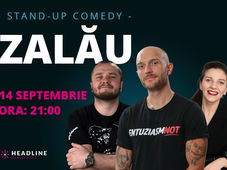 "Zalău: Stand-up comedy cu Bordea, Nelu Cortea & Teodora Nedelcu"""
