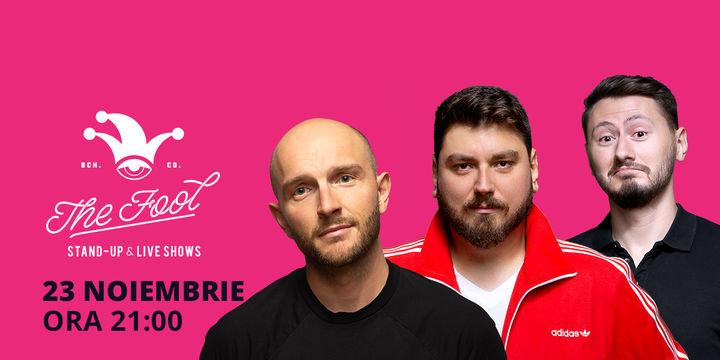 București: Stand-up comedy cu Bordea, Micutzu & Claudiu Popa