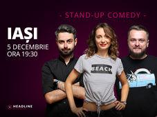 Iași: Stand-up comedy cu Ana-Maria Calița, Bucălae & Cortea