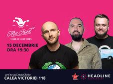 București: Stand-up comedy cu Bordea, Teo & Nelu Cortea