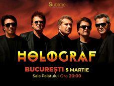 Concert extraordinar HOLOGRAF @ Sala Palatului Bucuresti