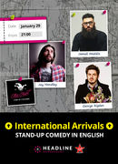 International Arrivals: George Rigden, Jay Handley & Jamali Maddix