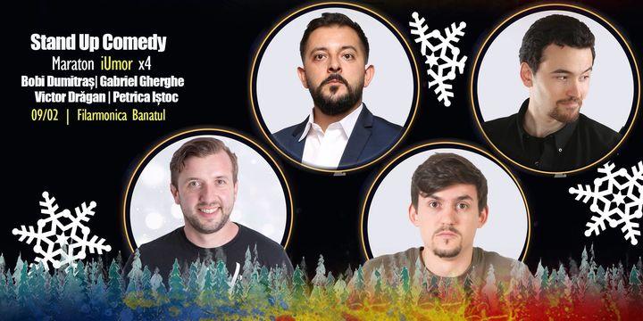 Timisoara: Stand Up Maraton x4 cu Bobi, Gherghe, Drăgan și Iștoc