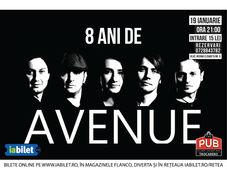 Concert aniversar: 8 ani de AVENUE