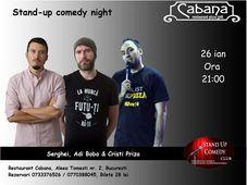 Stand Up Comedy cu Serghei, Adi Bobo & Cristi Priza