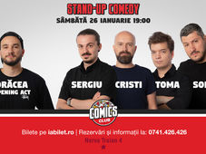 Stand Up Comedy cu Sorin, Sergiu, Toma & Cristi la Comics Club