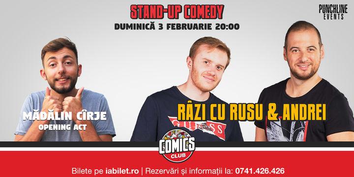 Stand Up Comedy cu Rusu și Andrei la Comics Club
