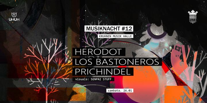 Musiknacht #12: Herodot, Prichindel, Los Bastoneros