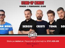 Stand Up Comedy cu Sorin, Sergiu, Toma și Popesco la Comics Club