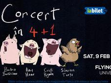 Concert'n 4+1 cu Ada Milea, Anca Hanu, Cristi Rigman, Bobo Burlăcianu și Sânziana Tarța