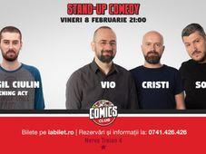 Stand Up Comedy cu Vio, Sorin & Cristi Popesco la Comics Club