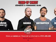 Stand Up Comedy cu Badea, Bordea & Natanticu la Comics Club