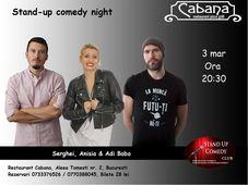 Stand Up Comedy cu Anisia Gafton, Serghei & Adi Bobo.