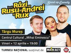Târgu Mureș: Stand-up Comedy - Râzi cu Rusu și Andrei & Rux