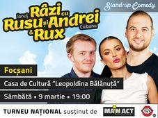 Focșani: Stand-up Comedy - Râzi cu Rusu și Andrei & Rux