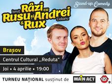 Brașov: Stand-up Comedy - Râzi cu Rusu și Andrei & Rux