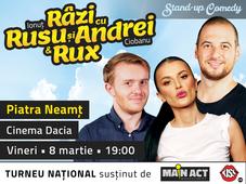 Piatra Neamț: Stand-up Comedy - Râzi cu Rusu și Andrei & Rux