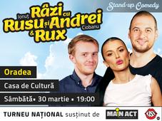 Oradea: Stand-up Comedy Razi cu Rusu si Andrei & Rux