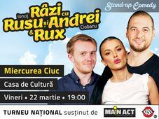 Miercurea Ciuc: Stand-up Comedy Razi cu Rusu si Andrei & Rux