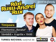 Timisoara: Stand-up Comedy Razi cu Rusu si Andrei & Rux