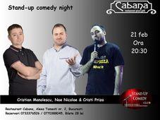 Stand Up Comedy Night cu Nae Nicolae, Cristian Manolescu & Cristi Priza