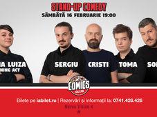 Show #1 - Stand Up Comedy cu Sorin, Sergiu, Toma & Cristi Popesco la Comics Club