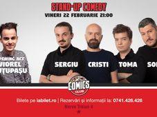 Stand Up Comedy cu Sorin, Sergiu, Toma & Cristi Popesco la Comics Club