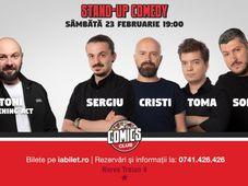 Show #1 Stand Up Comedy cu Sorin, Sergiu, Toma & Cristi Popesco la Comics Club