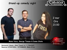 Stand-up comedy cu George Tanase, Mane Voicu & Ioana State