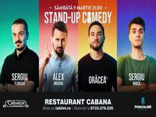 Stand-up comedy cu Sergiu Floroaia, Alex Mocanu, Bogdan Dracea & Sergiu Mirica