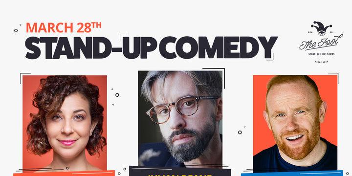 Stand-up comedy: Julian Deane, Maria Shehata & Rory O'Hanlon
