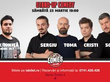 Show #1:Stand Up Comedy cu Sorin, Sergiu, Toma & Cristi la Comics Club