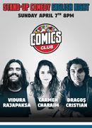 English night @ Comics Club with Dragos Cristian, Carmen Charaim & Vidura Rajapaksa