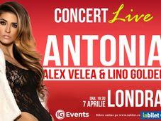 Concert Antonia, Alex Velea si Lino in Londra