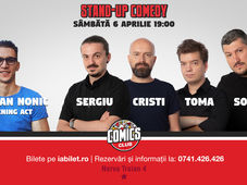 Show #1 - Stand Up Comedy cu Sorin, Sergiu, Toma & Cristi Popesco @ Comics Club